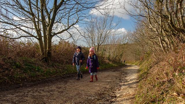 Family walk in the woods - DSCF5895