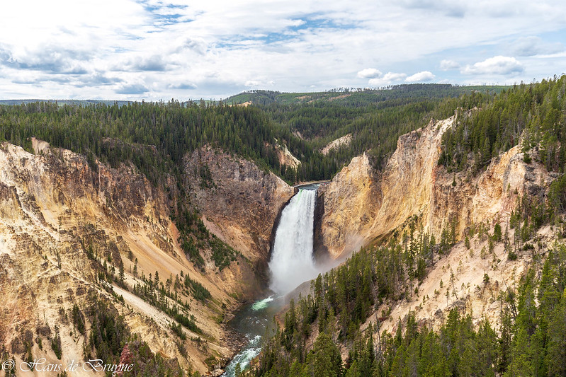 Lower falls in Yellowstone River