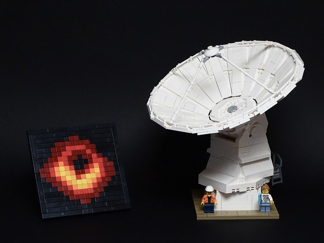 ALMA Observatory Antenna & Black Hole