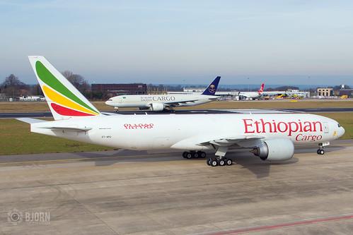 ET-APU Ethiopian Airlines Boeing 777-F60, Maastricht Aachen Airport - EHBK/MST   by neplev1