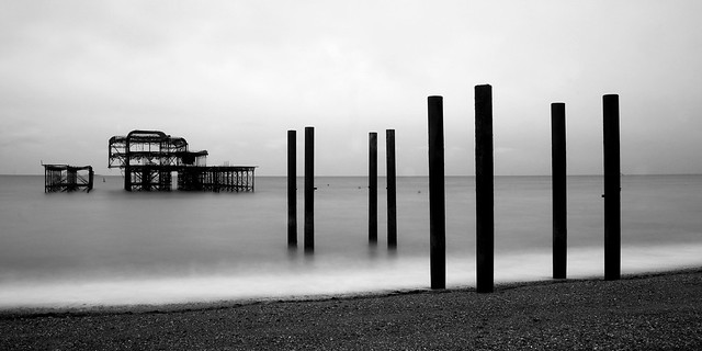 West Pier on a grey morning