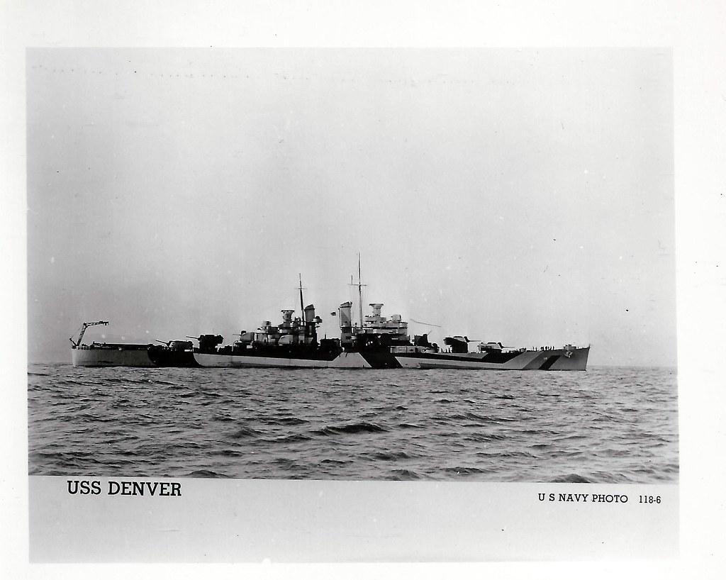 USS Denver (CL-58), Light Cruiser, WWII