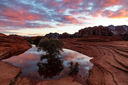utah snowcanyon statepark sunset reflection water petrifiedsanddunes clouds sunsetcolor jamesmarvinphelps jamesmarvinphelpsphotography