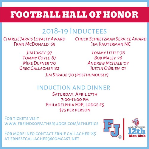 Father Judge High . . . Football Hall of Honor induction & dinner, 2019 | by tedtee308