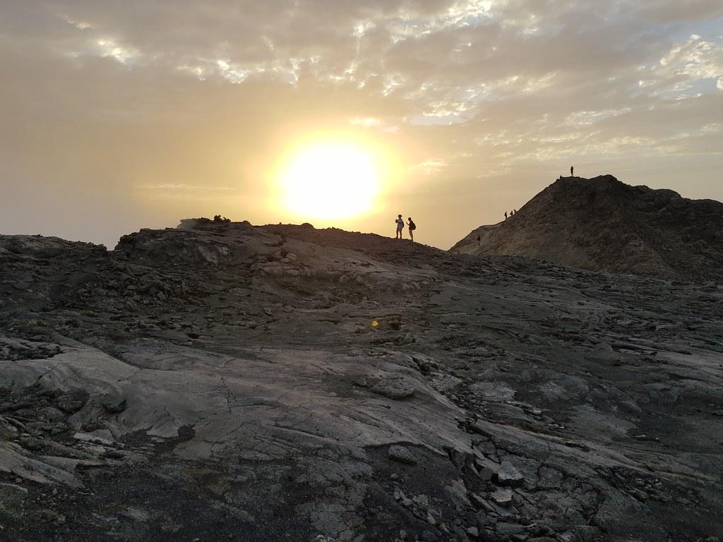 Wschód słońca na Erta Ale, Etiopia
