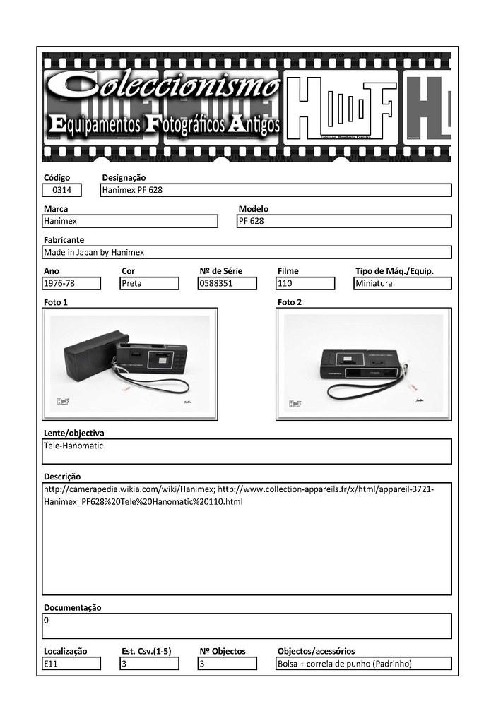 Inventariação da colecção_0314 Hanimex PF 628