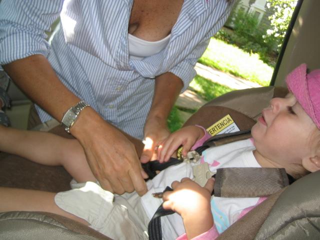 Bina in the car seat