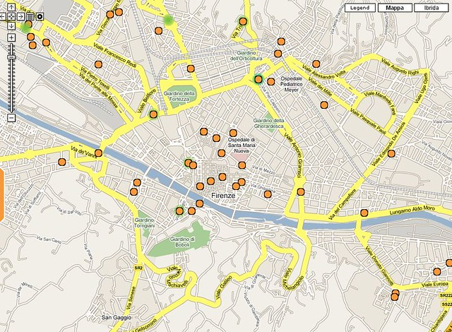 FON florence - Italy map | The real coverage of FON in Flore… | Flickr