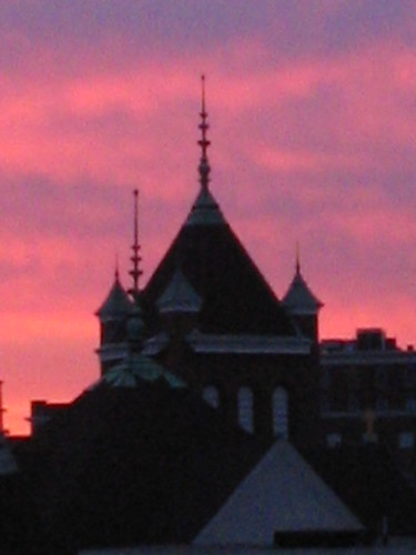 church skyline clouds sunsets steeple series a of