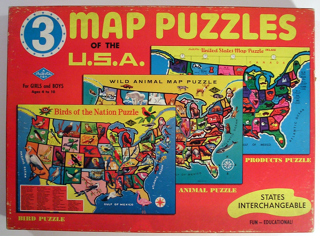Built-Rite Map Puzzles of the USA Box | Tom | Flickr