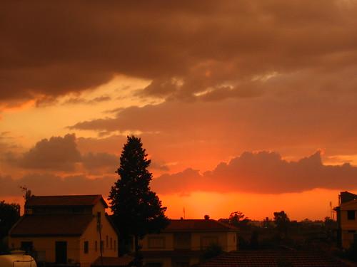 sunset cyprus nicosia lefkosia