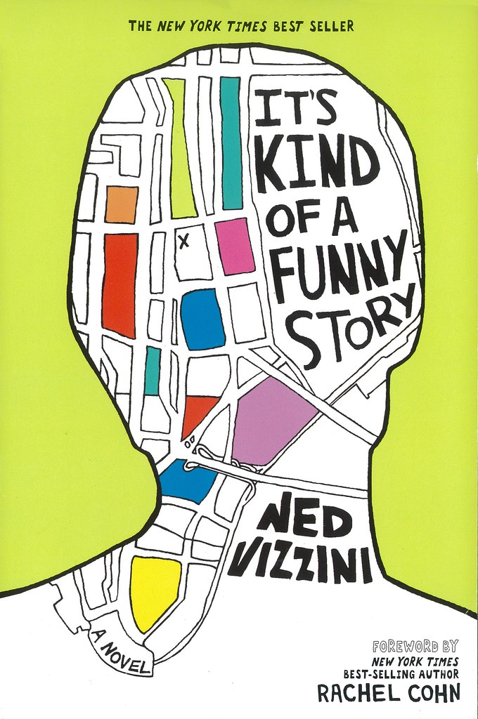 book cover for It's Kind of a Funny Story by Ned Vizzini.