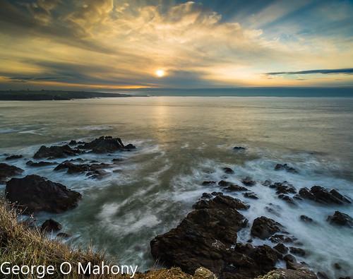 sunrise sea ireland waterford seastacks leefilters