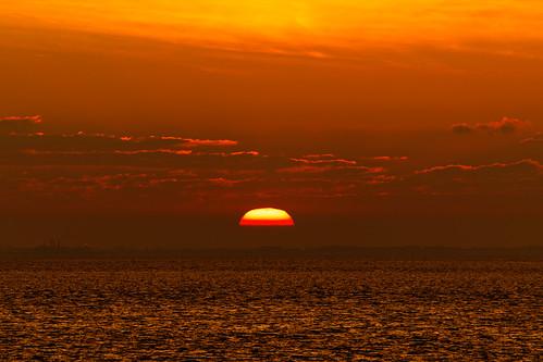 dawn water clouds scape humber estuary hull orangeskies ripples morning sunrise sky