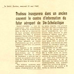 Le Soleil 21 mai 1969