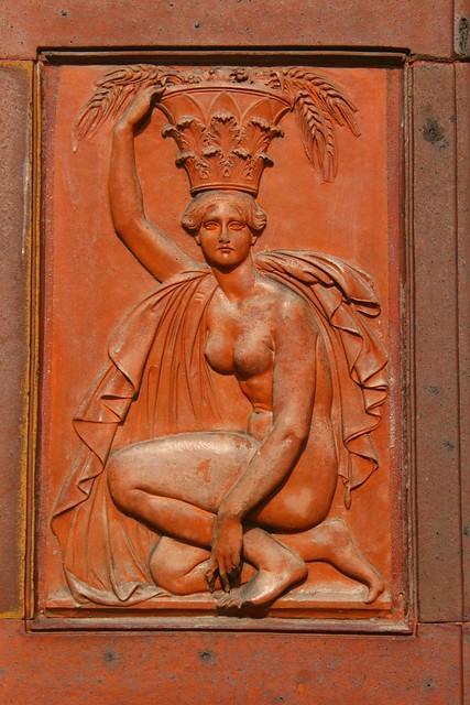 Eine Plakette vom Eingangsportal der Schinkelklause