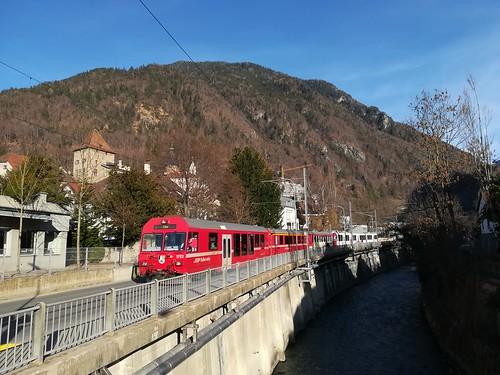 Regionalzug an der Plessur in Chur | by J76-S58