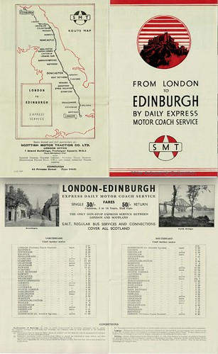 SMT from London to Edinburgh by daily express motor coach service, 1947 | by mikeyashworth