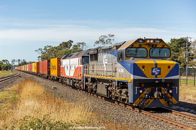 QUBE Maryvale Freight at Nar Nar Goon on 2/4/2019.
