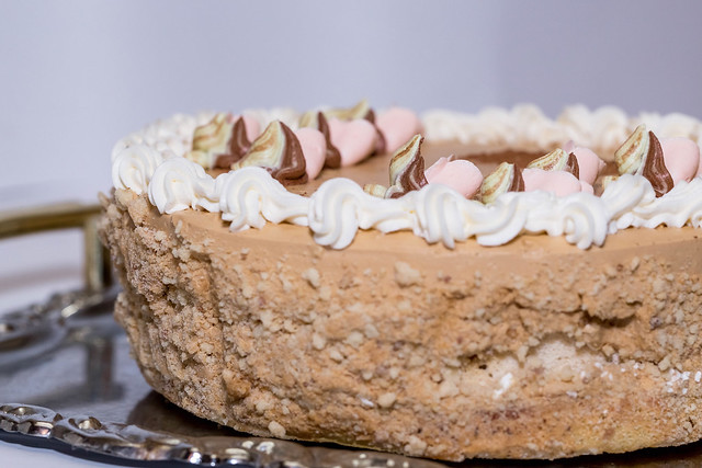 Kiev cake with cream and nuts