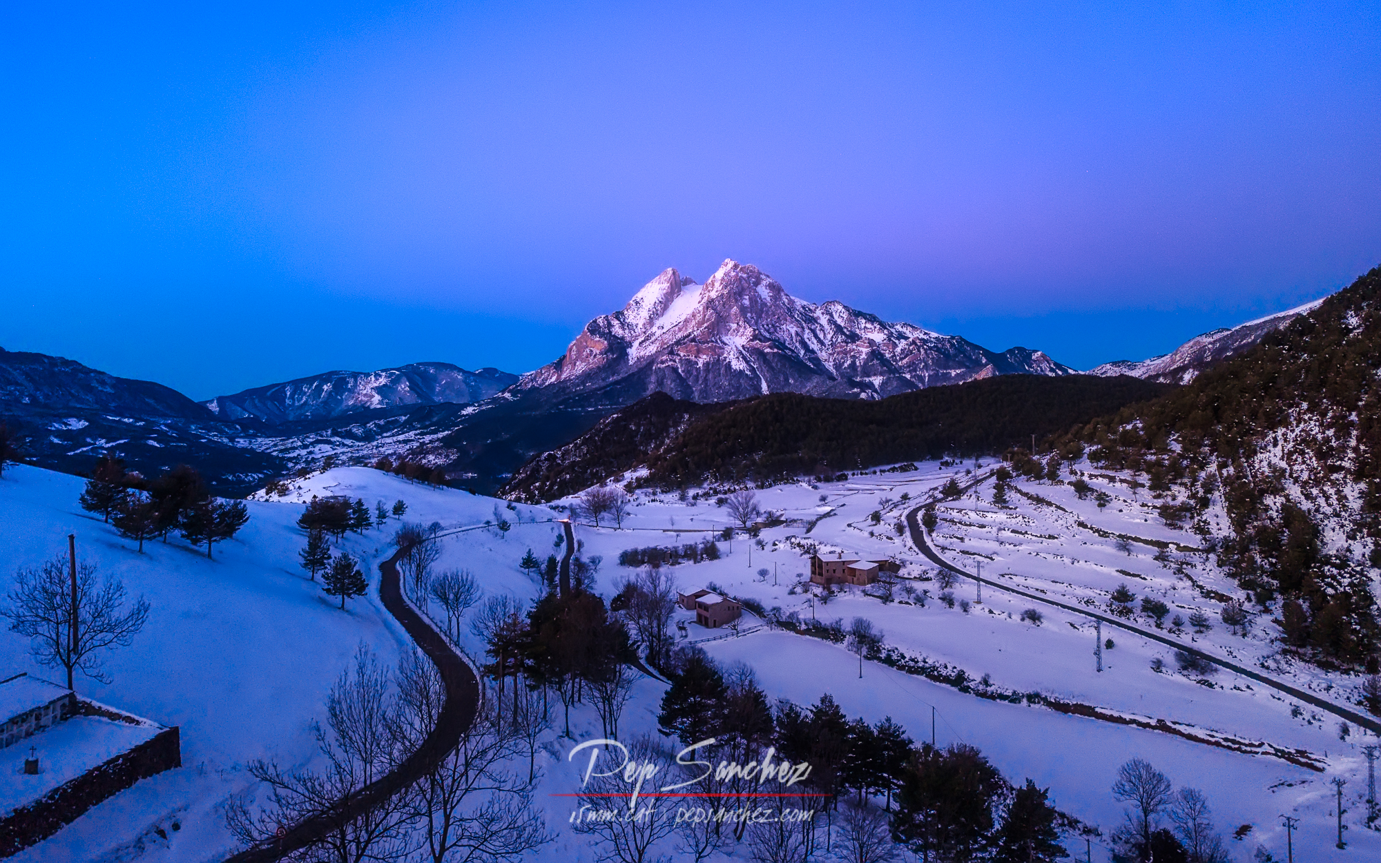 First lights in the Pedraforca