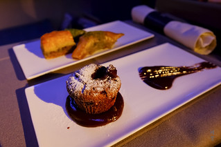 Chocolate souffle with chocolate sauce | by A. Wee