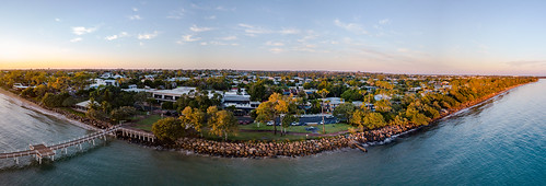 goldenhour panorama coastal aerial queensland herveybay frasercoast mavic dji drone