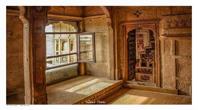 Havelli Interior, Patwaon-Ki-Haveli, Jaisalmer, Rajasthan.