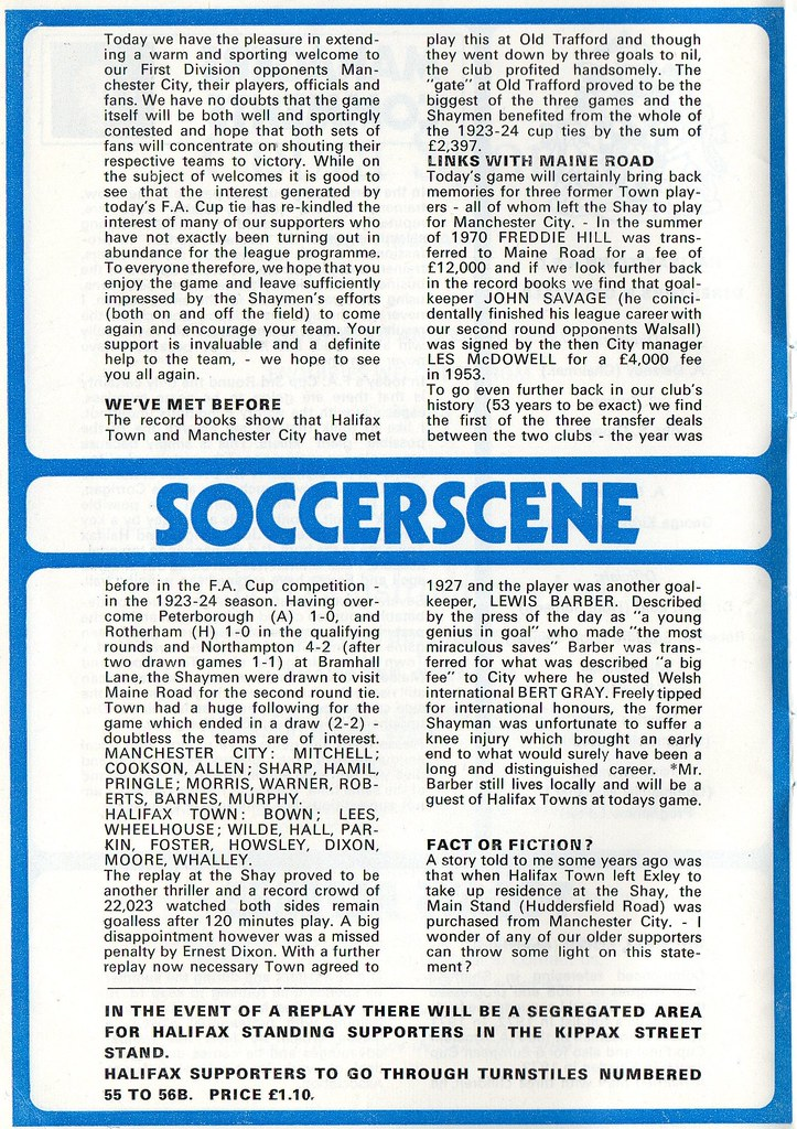 (Programme) 05-01-1980 Halifax Town 1-0 Manchester City (FAC) 4