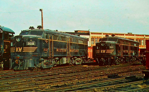 Western Maryland Railway Engines, Hagerstown, Maryland, Circa 1940 | by lisby1