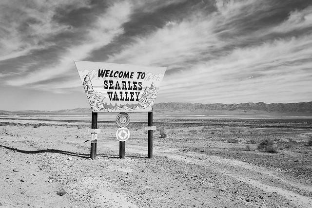 welcome to searles valley. trona, ca. 2018.