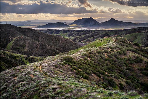 jackrabbittrail trail hills green spring storm countryside california landscape