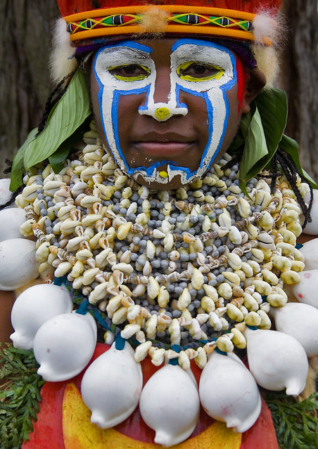 Highlander Woman In Mount Hagen During Sing Sing Ceremony, Western Highlands, Papua New Guinea