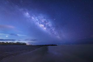 Venus Beach Florida >> Venus Jupiter And The Milky Way Over Turner Beach Captiv