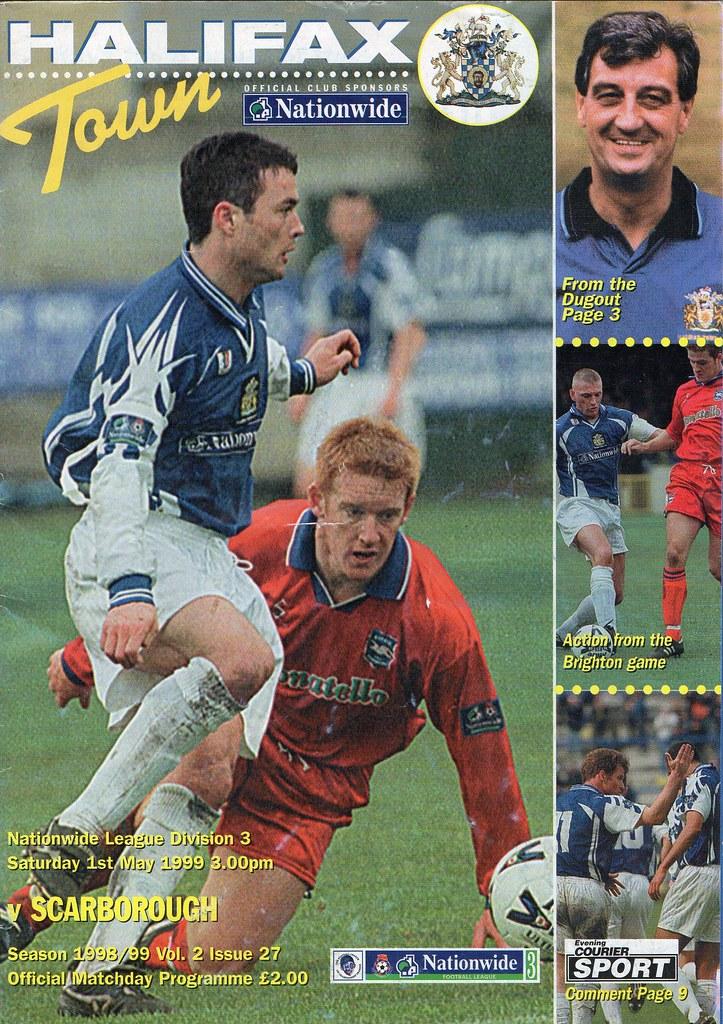 (Programme) 01-05-1999 Halifax Town 1-2 Scarborough 1