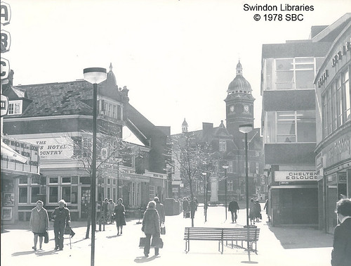 1978: The ABC Cinema and The Riflemans on Regent Street, Swindon   by Local Studies, Swindon Central Library
