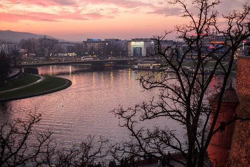 kraków lesserpoland malopolski poland staremiasto polska vistulariver river water sky sunset city town krakau fujifilmxt20 xt20 tree wisla