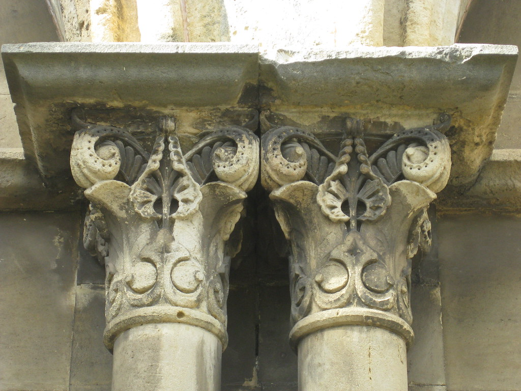 Freestone Details of the Double Arched Portal Portico of t… | Flickr