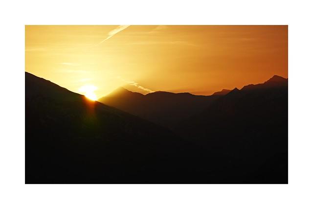 Lever de soleil sur la Maurienne
