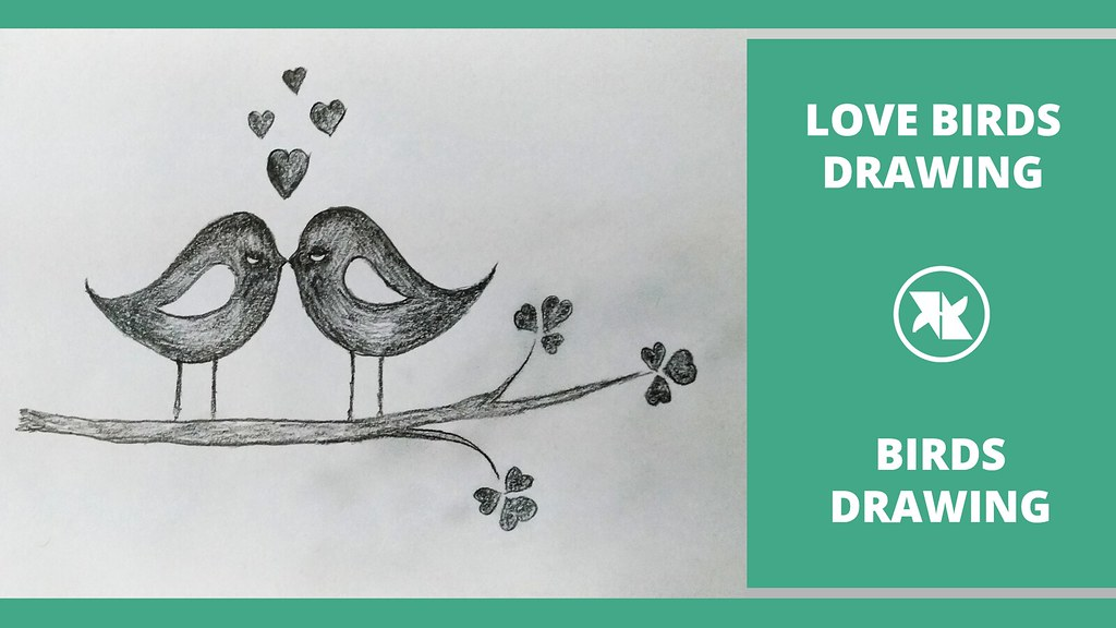 How To Draw A Love Birds For Kids In This Tutorial Let Me Flickr