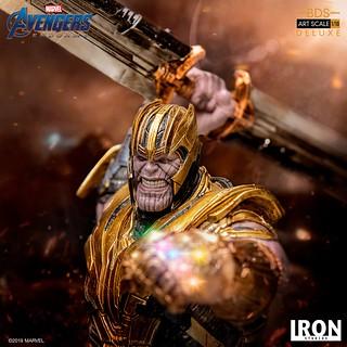 氣勢萬鈞的泰坦駕到!! Iron Studios Battle Diorama 系列《復仇者聯盟:終局之戰》薩諾斯 豪華版 Thanos Deluxe 1/10 比例決鬥場景雕像作品