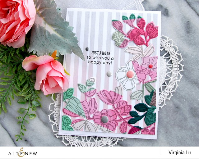 Altenew-SummerGardenPaperPad-WeekenddoodleStampDie-Stamp-Virginia#2
