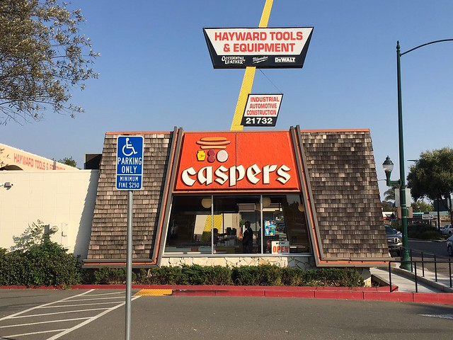 Caspers  Hot Dogs Hayward, Calif. - sign by Ad Art