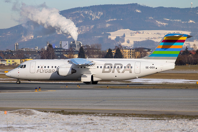 Braathens Regional - Avro RJ100 SE-DSX @ Salzburg