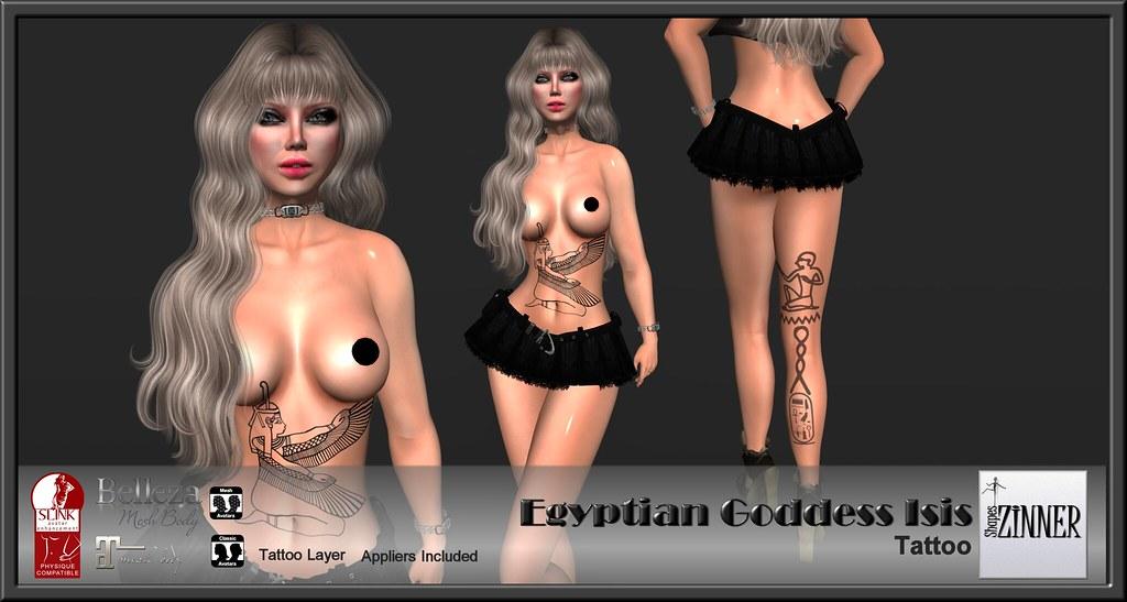 Zinner Shapes - Egyptian Goddess Isis Tattoo