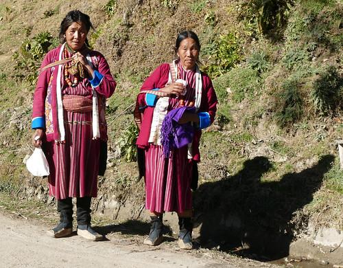 Deux femmes de l'ethnie Monpa
