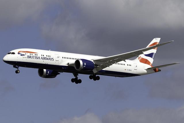 British Airways 787-9 G-ZBKC at London Heathrow LHR/EGLL