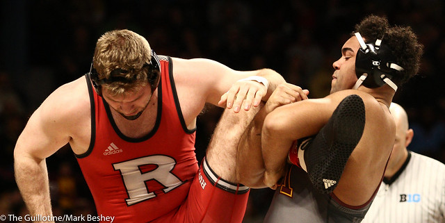 Champ. Round 1 - Gable Steveson (Minnesota) 29-0 won by tech fall over Christian Colucci (Rutgers) 15-12 (TF-1.5 6:38 (21-6)) - 1903amk0210