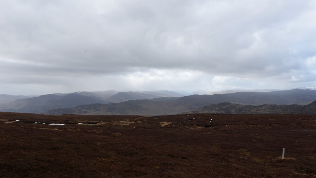 Snow showers over the Loch Earn Munros