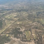 Leaving Harare, from the air